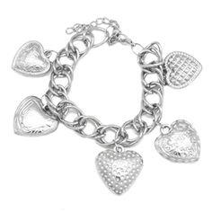 Debs Jewelry Shop - Paparazzi Bracelet -  Heart Charms Bracelet, $5.00 (http://www.debsjewelryshop.com/paparazzi-bracelet-heart-charms-bracelet/)
