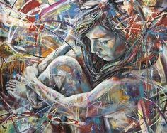 Graffiti artist David Walker paints a nude girl in this colorful and scrawled spray paint art work David Walker, Walker Art, Graffiti Art, Graffiti Designs, Street Art Graffiti, Portraits, Portrait Art, Spray Paint Art, A Level Art