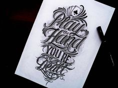 An Inspiring Collection of Hand Drawn Typography
