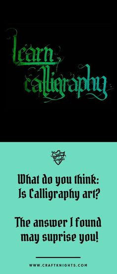 Is calligraphy art? This is a question often ask and a question, that seemingly people are confused about. In this article I will go over the deffinition of art and calligraphy and answer this question in my own way and reasoning. #calligraphy #art #learn #information #iscalligraphyart