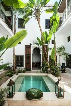 Small Inground Pool, Small Pools, Swimming Pools Backyard, Swimming Pool Designs, Backyard Landscaping, Hotel Swimming Pool, Small Backyard Pools, Small Backyards, Patio Design