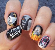 American Horror Story inspired nails.  My favorite Halloween themed nails that I've seen so far!