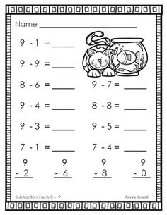 Addition and Subtraction Worksheets BUNDLE for Kindergarten and Grade First Grade Math Worksheets, Addition And Subtraction Worksheets, Kindergarten Math Worksheets, Build Math, Modern Design, Childhood Education, Preschool Math Activities, Activities For Kids, Elementary Spanish