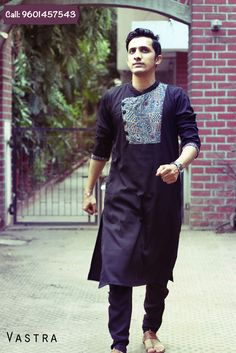 'Hatke' Kurtas for men to adorn this Navratri by VASTRA Mens Indian Wear, Mens Ethnic Wear, Indian Groom Wear, Indian Men Fashion, Kurta Pajama Men, Kurta Men, Mens Sherwani, Man Dress Design, Business Casual Jeans