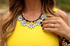 statement + necklace