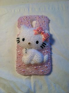 Bling Galaxy S4 Charmmy kitty phone case for my shop on Etsy- Cherbearphonecases  Check out my shop I can do anything on any case!!