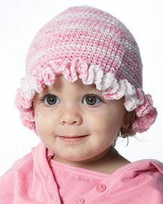 25 New Ideas Crochet Kids Hats Patterns Daughters Crochet Ruffle, Crochet Cap, Crochet Beanie, Baby Blanket Crochet, Free Crochet, Beginner Crochet, Easy Crochet, Crochet Headbands, Crochet Kids Hats