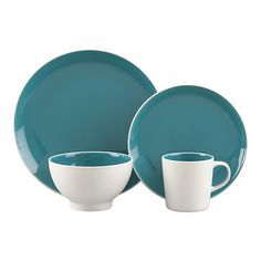 Crate & Barrell Max Teal Dinnerware- Comes in three other colors to mix and match!