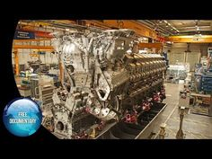 Mega Diesel Engine made in germany. MTU (Engine and Turbine Union Friedrichshafen) is a brand of Rolls-Royce Power Systems. Their propulsion systems and larg. Diesel Engine, Heavy Equipment, Rolls Royce, Military Vehicles, Offroad, Documentaries, Engineering, Big, Youtube