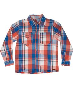 Name It Checked shirt in red & blue. name-it.en.emilea.be