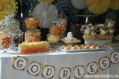 "Gorgeous ""little guy"" dessert table"