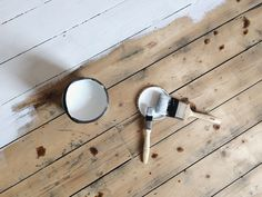 DIY How to paint wooden floors, a guide to painting floors, bare plaster walls, Victorian fireplace, Farrow & Ball Wimborne White