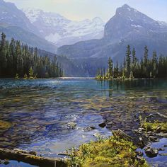 Richard Mravik - Summer Lagoon - OPEN EDITION CANVAS from the Greenwich Workshop Fine Art Gallery featuring fine art prints, canvases, books, porcelains and gift ideas. Watercolor Landscape, Landscape Paintings, Canada Landscape, Workshop, Sparkling Lights, Fine Art Gallery, Natural World, View Image, Art Oil