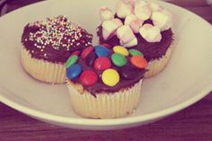 Muffins met Nutella. Voor als je met haast iets lekkers als nagerecht wil.