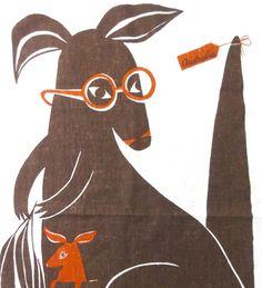 Vintage Tea Towel Australia Kangaroo by Rodriquez by Chixycoco, £28.00