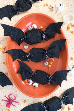 Crepe Paper Bat Favors DIY   Oh Happy Day!