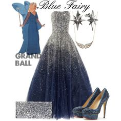 """Blue Fairy Grand Ball"" by jess-d90 on Polyvore"