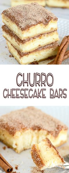 The crunchy cinnamon of churros combined with the creamy tanginess of cheesecake. Churro cheesecake bars are sure to become a favorite treat! An easy and delectable dessert recipe! #churrocheesecakebars #churrocheesecake #churro #cheesecakebars #creationsbykara #cinnamondessert