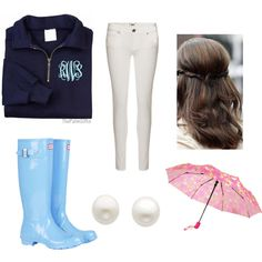 Preppy rainy day outfit!! ☔☔☔