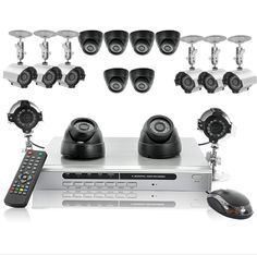 "16 Camera Surveillance Kit ""Hexa Set"" - 1TB HDD, 16CH DVR, 1/3 CCD lens, IP =====> This is the ultimate security camera kit! Easily set up your own CCTV network to protect your family and belongings. The high quality kit contains everything you need to get going. With 8 indoor, 8 outdoor cameras and a DVR with a 1TB HDD, you'll have every angle of your property covered."