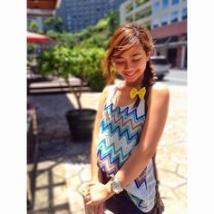 Celebrity BuZZzz: Popular Celebrity Instagram Photos: Miles Ocampo Kathryn Bernardo, Filipino, Bench, Celebrity, Celebs, Actresses, Queen, Popular, Park
