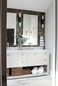 Idée #originale de #déco de salle de bain #rustique http://www.m-habitat.fr/par-pieces/sanitaires/idees-deco-et-amenagements-pour-une-salle-de-bains-2682_A