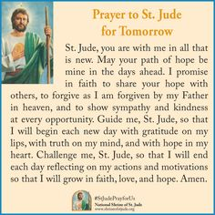 St Jude prayer for tomorrow Prayer Verses, Faith Prayer, God Prayer, Prayer Book, Prayer Quotes, Night Prayer, Novena Prayers, Bible Prayers, Catholic Prayers
