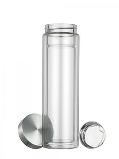 Qraft Classic Double Wall Glass Bottle 12 oz - Save A Cup
