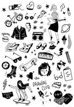 Feelings under the skin: tattoo ideas for couples Doodle Tattoo, Doodle Drawings, Doodle Art, Tattoo Drawings, Body Art Tattoos, Small Tattoos, I Tattoo, Handpoke Tattoo, Tattoo Flash Sheet