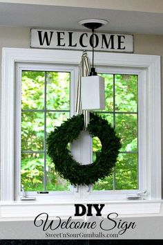 DIY upcycled wooden sign   http://www.hometalk.com/l/ecA