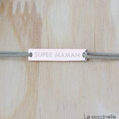 BRACELET CORDON SUPER MAMAN : une jolis idée de cadeau pour la fête des mères