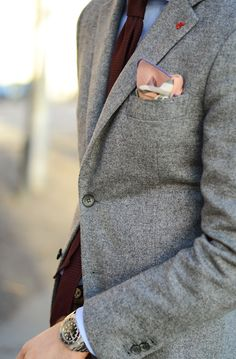 Jacket - ISAIA Napoli, Shirt - Pelote, Tie - Viola Milano, Pocket Square - Christian Kimber, Trousers - L.B.M 1911, Watch - Rolex Submariner