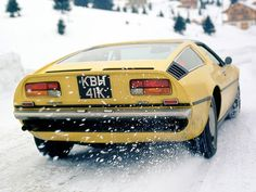 #20. Talk about steer-by-the-throttle!... how hardcore (or insane -- the jury's still out) a driver must you be, to take a RHD, four-carb 310hp V8-powered, rear wheel-driven Maserati Bora out on a snowy road?!