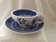 Blue-Willow-Caribe-Puerto-Rico-M-3-cup-and-saucer