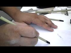 Calligraphy Pen Out of Bamboo With a Reservoir - YouTube