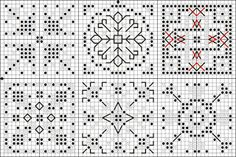 Mysterious knickknacks: *quaker ball - most of patterns on this board  will need 12 squares for ball