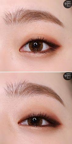 Eye Makeup - 무쌍 메이크업 튜토리얼을 원하시는 분들이 꽤 많길래 드디어!! 가져와본 무쌍메이크업 꺌꺌 제 눈은 무쌍... - Ten (10) Different Ways of Eye Makeup