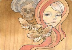 Tatiana Oil on wood 7x5 Disquieting Muses - Copro Nason 2006 (jg) © Audrey Kawasaki 2004 - 2013
