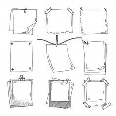 Photo frames and different blank notepaper. Vector set of doodle pictures photo frames and different blank notepaper vector set of doodle pictures - immagini vettoriali stock e altre immagini di ambiente royalty-free Bullet Journal School, Bullet Journal Writing, Bullet Journal Notebook, Bullet Journal Inspiration, Bullet Journal Frames, Bullet Journal Vectors, Doodle Pictures, Doodle Images, Doodle Art