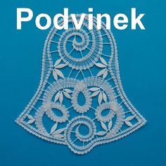 Podvinek 043 - Zvonek Lacemaking, Lace Heart, Lace Jewelry, Bobbin Lace, Simple Art, Christmas And New Year, Lace Detail, Tatting, Crochet Necklace