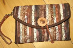 Small Clutch Purse  Fabric Purse with Leather by KreativityAbounds, $72.00