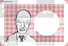 Greeting card with angry boss – personalize your card with a custom text