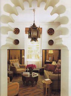 Petite Salon at Pierre Bergé's Villa Léon l'Africain