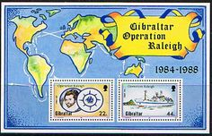 Gibraltar 1988 Operation Raleigh Miniature Sheet Fine Mint SG MS 603 Scott 539 Other Gibraltar Stamps HERE