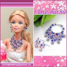barbie doll jewelry set barbie necklace and earring