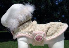 Pink Cashmere Couture Dog Coat M by GigiandJane on Etsy, $185.00