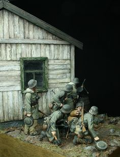 """Prey"" 1/35 scale, WW2 German Waffen-ss soldiers vignette. By Johan Fohlin."