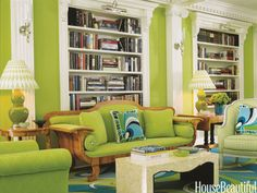 Lime green wildness from Designers Anthony Baratta and William Diamond - love it!