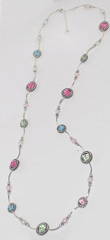 The perfect long necklace in pretty Spring colors. Look for project #82 on the Idea Page: http://www.bestbuybeads.com/ideapage.asp