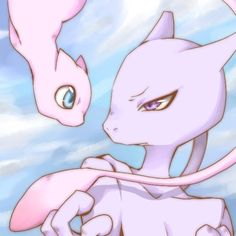 Mew and Mewtwo.